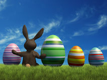 Bunny at Easter Royalty Free Stock Photography