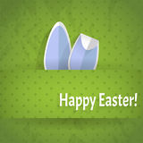Bunny. Easter bunny ears on a green backgrownd Stock Images