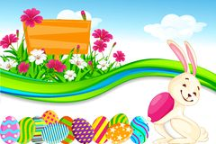 Bunny with Easter Egg Stock Photography