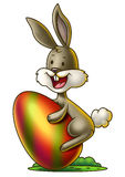 Bunny with an Easter Egg 2 Royalty Free Stock Images