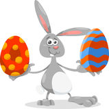 Bunny and easter egg cartoon illustration Stock Image