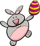 Bunny with easter egg cartoon Royalty Free Stock Image
