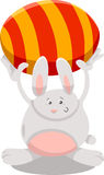 Bunny with easter egg cartoon illustration Stock Photos