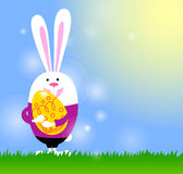 Bunny and Easter egg Royalty Free Stock Images