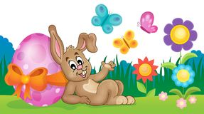 Bunny with Easter egg theme image 3 Royalty Free Stock Photo