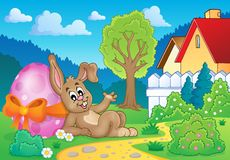Bunny with Easter egg theme image 2 Royalty Free Stock Images