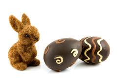 Bunny with easter eggs Royalty Free Stock Photos