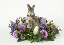 Bunny with Easter eggs Royalty Free Stock Photo