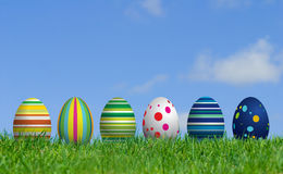 Bunny and Easter Eggs Royalty Free Stock Image