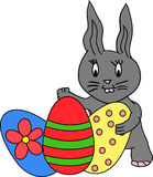 Bunny with easter eggs Stock Images
