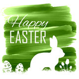 Bunny with egg in easter card Royalty Free Stock Image