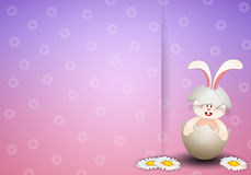 Bunny in egg for Happy Easter Stock Image