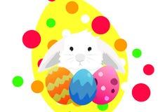 Bunny eggs Stock Image