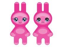 bunny emoticon ροζ Στοκ Εικόνες