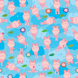 Bunny fat rain sky seamless pattern Royalty Free Stock Image