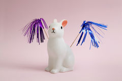 Bunny fireworks Royalty Free Stock Images