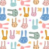 Bunny And Floral Pattern Background mignon Photos libres de droits