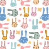 Bunny And Floral Pattern Background sveglio Fotografie Stock Libere da Diritti