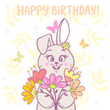 Bunny and flowers Royalty Free Stock Photography