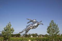 Bunny Foo Foo-beeldhouwwerk in Hall Winery in Napa-Vallei Royalty-vrije Stock Foto