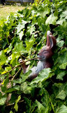Bunny Garden Ornament Stockfoto