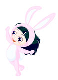 Bunny girl royalty free stock images