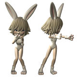 Bunny girl Royalty Free Stock Image