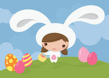 Bunny Girl royaltyfri illustrationer