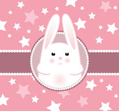 Bunny girl arrival card Royalty Free Stock Images