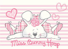 Bunny Girl Card adorabile Fotografie Stock