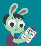 Bunny Girl Filling Form Photographie stock libre de droits