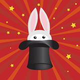 Bunny in the hat Royalty Free Stock Photo