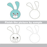 Bunny head. Drawing worksheet. Stock Image