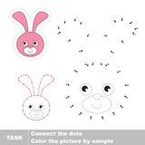 Bunny Head Vectoraantallenspel Royalty-vrije Stock Afbeelding