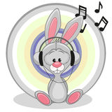 Bunny with headphones Royalty Free Stock Photo