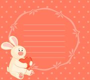 bunny with heart Royalty Free Stock Photos