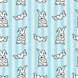 Bunny Heart Seamless Pattern Royalty Free Stock Photos