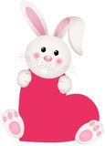 Bunny on heart shaped Stock Image