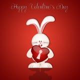 Bunny with heart Royalty Free Stock Photo