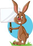 Bunny Holding Advertising Sign lindo libre illustration