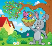 Free Bunny Holding Easter Basket Topic 2 Stock Images - 108221524