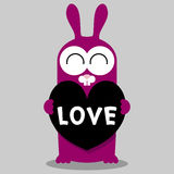 Bunny holding a heart Royalty Free Stock Photos