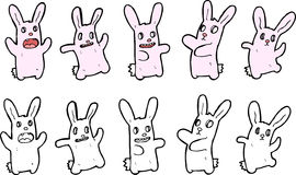 Bunny illustrations Stock Photos