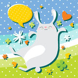 Bunny jumping Royalty Free Stock Images