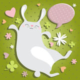Bunny jumping Stock Photo