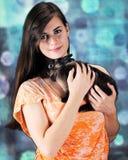 Bunny Lovin' Beauty Royalty Free Stock Photos