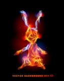 Bunny made of flame Fire collection Royalty Free Stock Photography