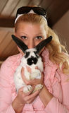 Bunny mustache Stock Images