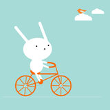 Bunny On A Bike Royalty Free Stock Image