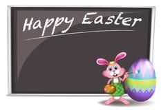A bunny painting near the board Stock Photo